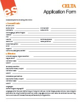 Application form celta celta courses celta training